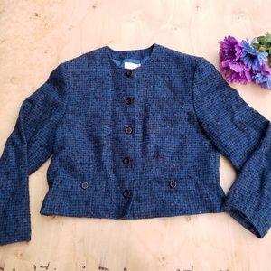 Pendleton blue wool blazer jacket (j)